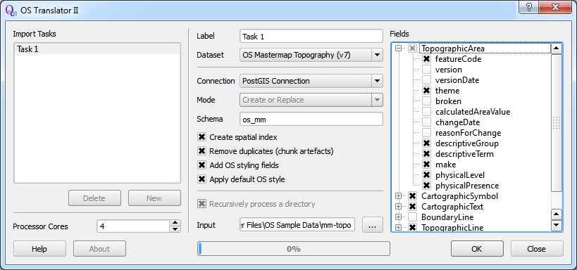 OS Translator II - Load OS MasterMap into PostGIS quickly, easily and for free