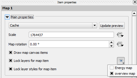 Setting the preset view for the overview map