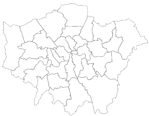 London boroughs - without labels
