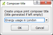 The print composer title window