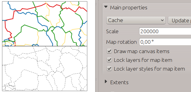 Multiple styles in the map composer