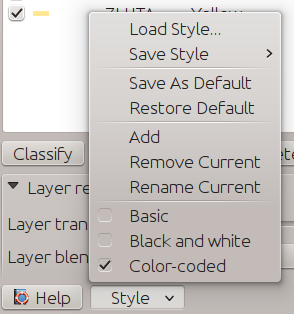 Multiple styles in the layer dialog