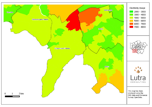 Final energy map for Kingston upon Thames generated by the Atlas