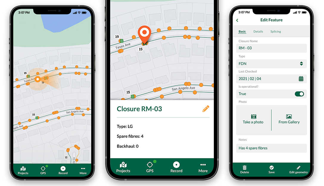Screenshots of the Input App for Field Data Collection