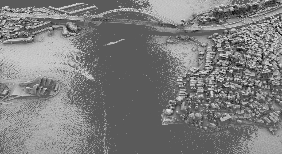 point cloud support in QGIS