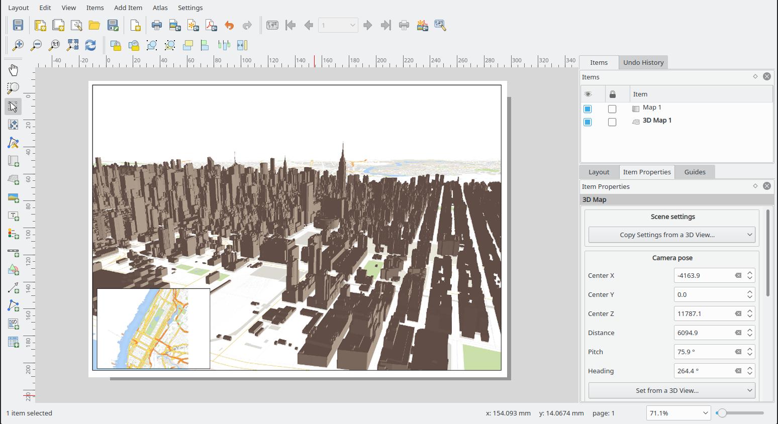 QGIS 3D configuration