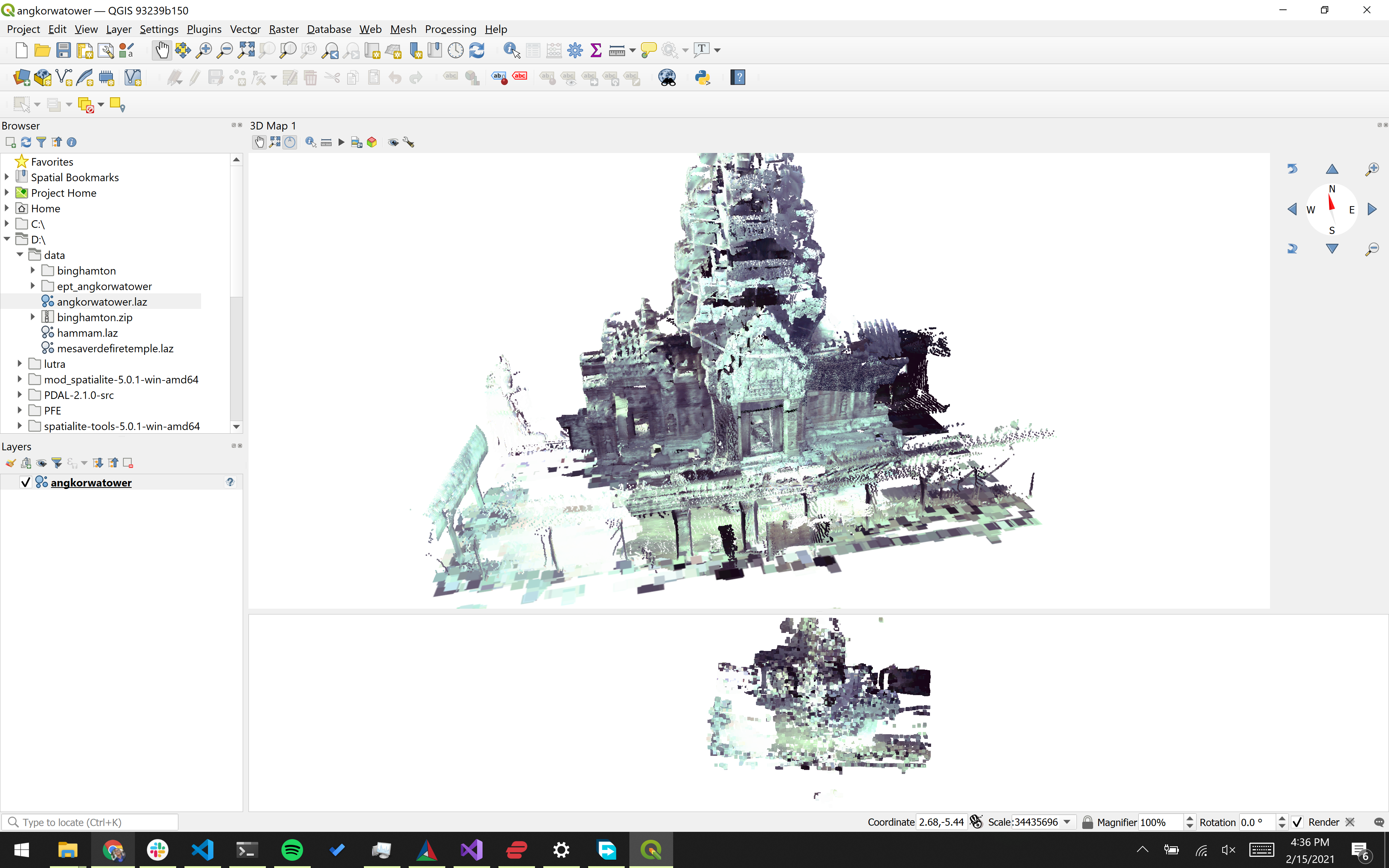 Point Clouds in QGIS under Windows